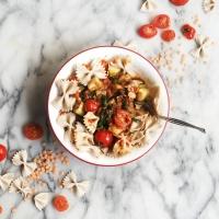 Spicy mushroom lentil bolognase